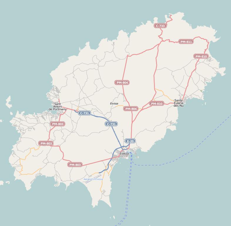 Location map Ibiza