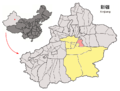 Location of Hoxud within Xinjiang (China).png