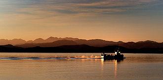 Loch Ewe - A Creel Boat on Loch Ewe at dawn