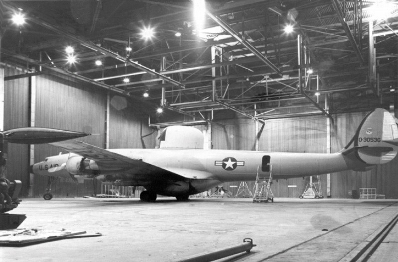 Lockheed EC-121D in hangar