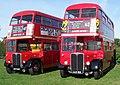 London Transport buses RT1702 (KYY 529) & RT3251 (LLU 610), 2005 Canvey Island bus rally.jpg