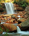Long exposure of Douglas Falls, West Virginia (5516688088).jpg