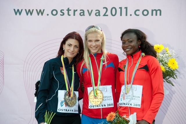 Long jump podium Ostrava 2011