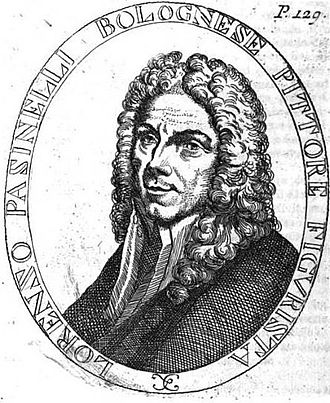 Lorenzo Pasinelli - Pasinelli from lost self-portrait, engraved by Luigi Crespi.