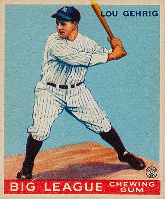 Lou Gehrig - Gehrig 1933 Goudey baseball card