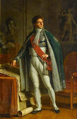 Berthier en tenue de Grand veneur, Jacques Augustin Catherine Pajou, 1808.