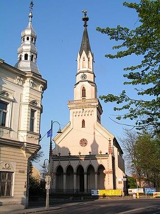 Lučenec - Image: Lucenec Church 1a