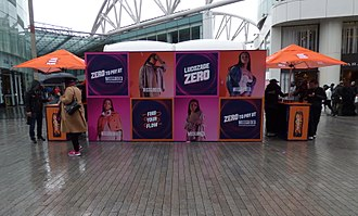 Lucozade - A Lucozade Zero booth marketing a tie-in with Missguided in 2017 in Birmingham