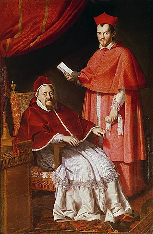 Pope Gregory XV - Pope Gregory XV with his cardinal-nephew of unprecedented income and authority, Ludovico Ludovisi, known as il cardinale padrone