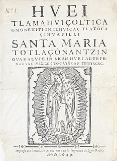 religious tract written in Nahuatl, published in Mexico City in 1649