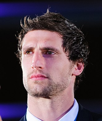 Luke Charteris - Charteris during the 2012 Grand Slam celebration at the Senedd