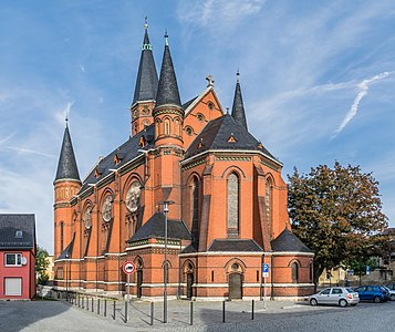 Luther church in Apolda, Thuringia, Germany