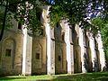Mériel (95), abbaye Notre-Dame du Val, bâtiment des moines, façade est 2.jpg