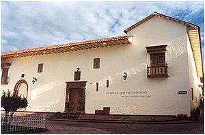 Museo de Arte Precolombino (Peru) - Pre-Columbian Art Museum Cusco, Peru. Building facade