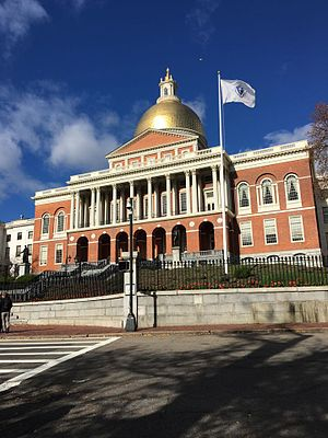 Massachusetts General Court - The Massachusetts State House, which houses the General Court and Governor's Office.