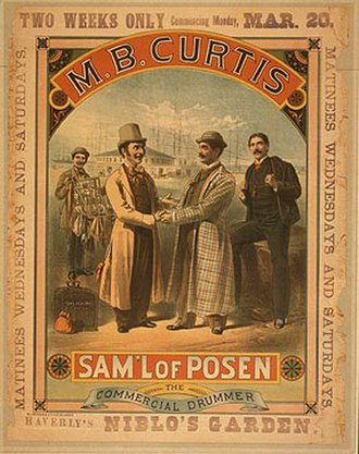 Maurice Curtis - MB Curtis theatrical poster