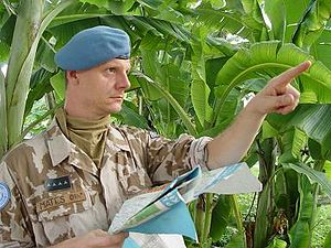 MONUSCO - Czech soldier in MONUC, c. 2006