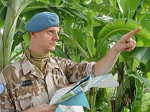 MONUSCO - Czech soldier in MONUC, c. 2006