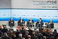 MSC 2014 Amano-Zarif-Bildt-Murphy-Ischinger Mueller MSC2014.jpg