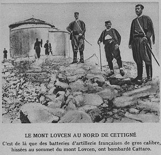 Serbian Campaign of World War I - Montenegrin troops outside of Lovćen, October 1914.