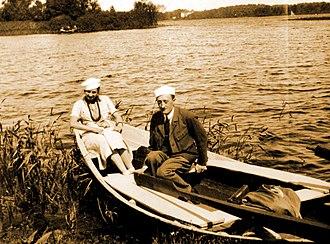 Maciej Masłowski - Maciej Masłowski and his wife Halina, during their visit to Girdwoyń family in Troki near Wilno, ca 1935