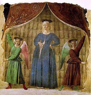 Monterchi - Piero della Francesca's Madonna del Parto. Museo della Madonna del Parto, Monterchi.
