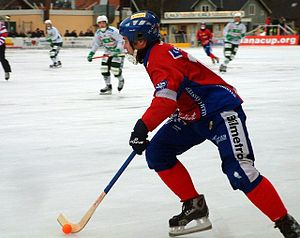 Bandy World Cup - Magnus Olsson playing for Edsbyns IF in 2005.
