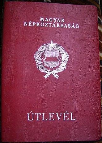 Hungarian passport - Image: Magyarország útlevél keleti országokba 1972