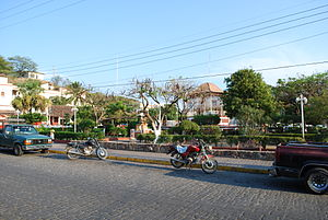 Tehuantepec - View of the main square of the city