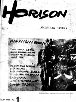 Majalah Horison, hal. 1 (sampul depan), Juli 1966.png