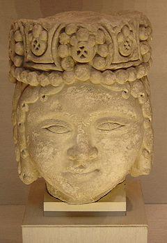 Selçuk Bey'e ait olduğu düşünülen bir heykel başı.  New York Metropolitan Sanat Müzesinde sergilenmektedir.