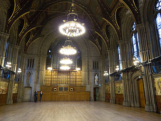 The Manchester Murals - The twelve murals are located on opposite walls in the Great Hall.