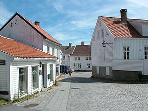 Mandal, Norway - Part of Mandal town center