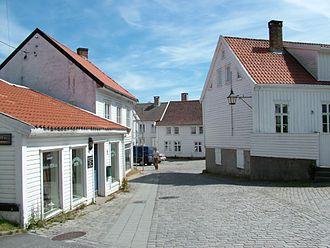 Mandal, Norway - Part of Mandal town center