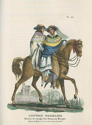 Claudio Linati - Maniere de voyager des Dames au Mexique (How Women Travel in Mexico; 1828)