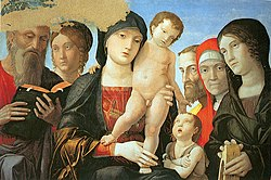 Andrea Mantegna: Virgin and Child with Saints