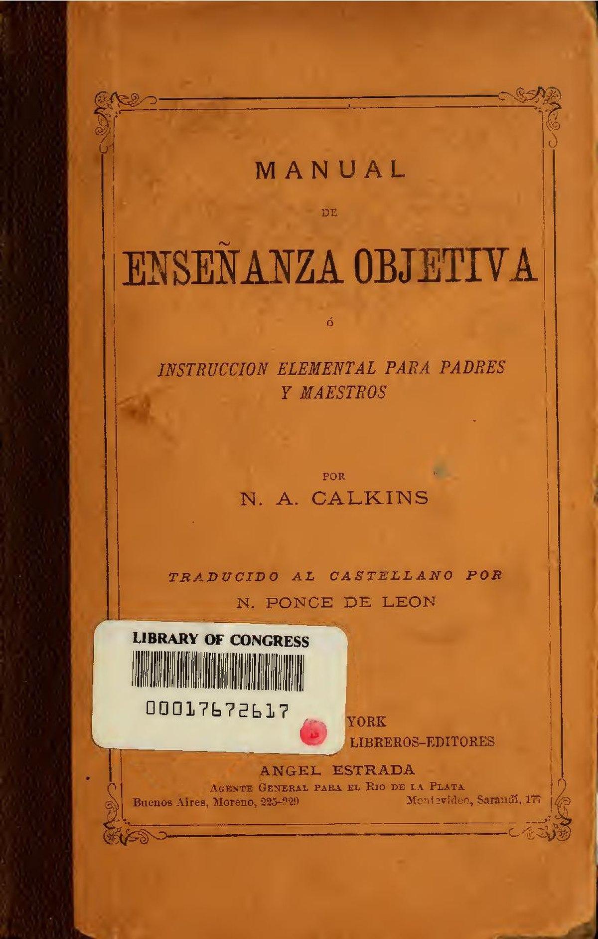 File:Manual de enseanza objectiva (IA manualdeensean00calk).pdf ...
