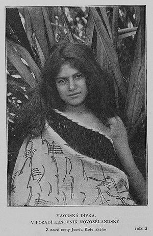 Josef Kořenský - Maori girl, New Zealand