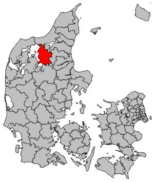 Vesthimmerlands Municipality - Image: Map DK Vesthimmerland