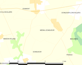 Mapa obce Mesnil-Domqueur