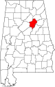Map of Alabama highlighting St Clair County.svg