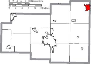 Bluffton, Ohio - Image: Map of Allen County Ohio Highlighting Bluffton Village