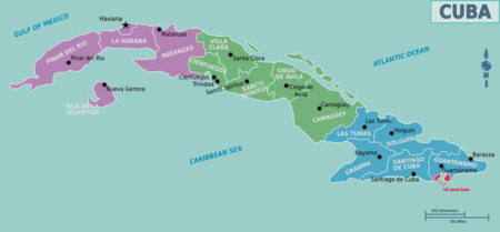 Cuba – Travel guide at Wikivoyage Santa Clara Map Of Cuban Province on map of cuban countries, map of cuba with cities, map of cuban beaches, map of cuban volcanoes, map of cuban ports, map of cuban rivers, map of cuban states, cuba provinces,