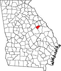 Map of Georgia highlighting Glascock County