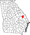 Map of Georgia highlighting Jenkins County.svg
