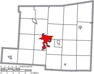 Mount Vernon, Ohio - Image: Map of Knox County Ohio Highlighting Mount Vernon City