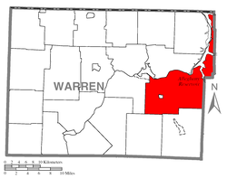 Location of Mead Township in Warren County