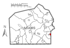 Map of Midway, Adams County, Pennsylvania Highlighted.png