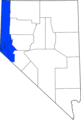 Map of Nevada highlighting Western Nevada.png