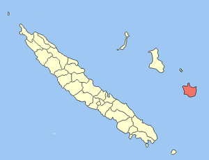 Maré Island - Image: Map of New Caledonia, showing Maré Commune